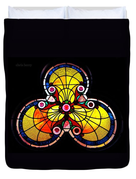 Stained Glass  Duvet Cover by Chris Berry