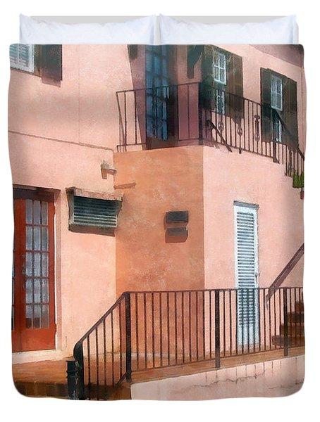 Staircase In Bermuda Duvet Cover by Susan Savad