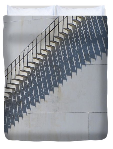 Stairs and Shadows 3 Duvet Cover by Anita Burgermeister