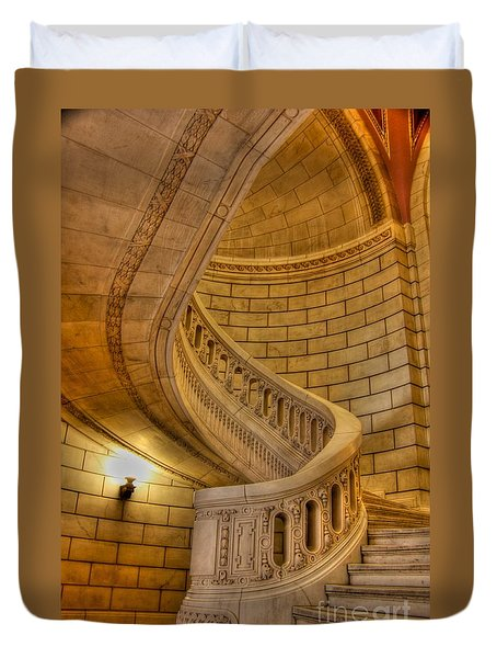 Stairs Of Mythical Proportion Duvet Cover by David Bearden