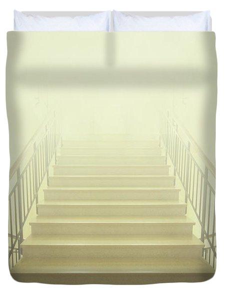 Stairway To Heaven Duvet Cover by Evelina Kremsdorf