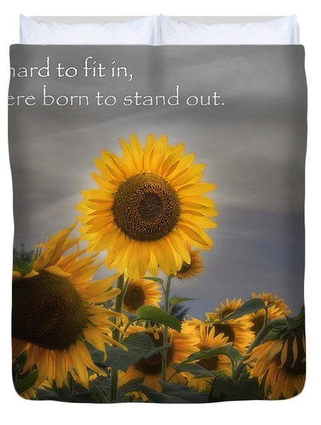Stand Out Duvet Cover by Bill  Wakeley