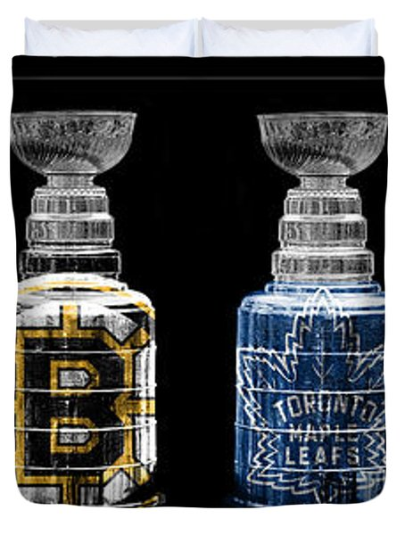 Stanley Cup Original Six Duvet Cover by Andrew Fare