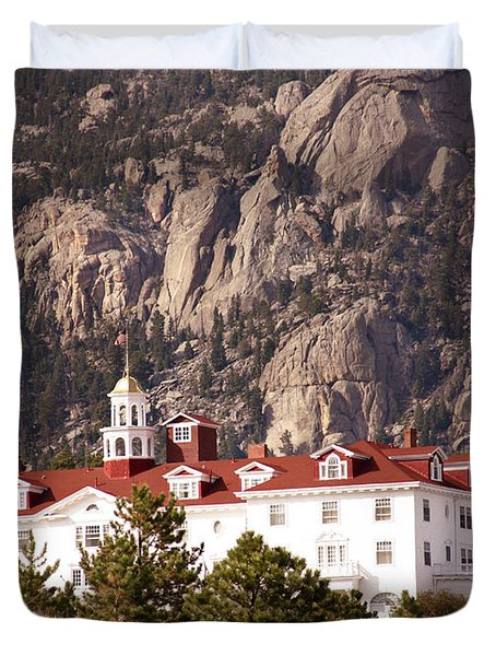 Stanley Hotel Estes Park Duvet Cover by Marilyn Hunt