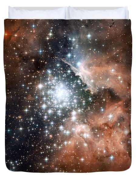 Star Cluster And Nebula Duvet Cover by Sebastian Musial