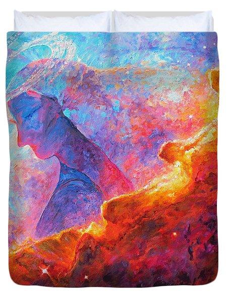 Star Dust Angel Duvet Cover by Julie Turner