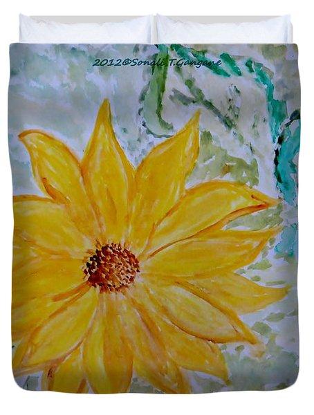 Star Flower Duvet Cover by Sonali Gangane