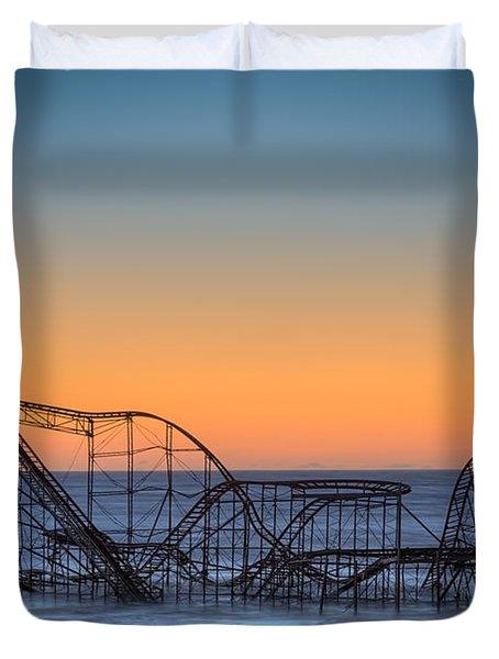 Star Jet Roller Coaster Ride Duvet Cover by Michael Ver Sprill