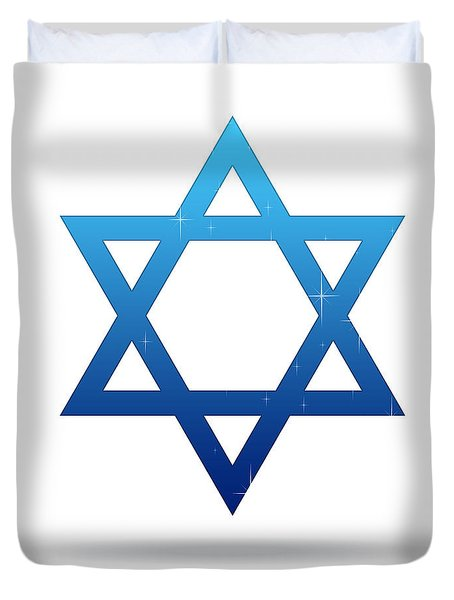 Star Of David Duvet Cover by Aged Pixel