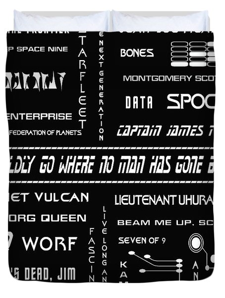 Star Trek Remembered Duvet Cover by Nomad Art And  Design
