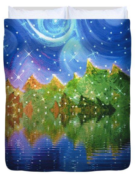 Starfall Duvet Cover by First Star Art