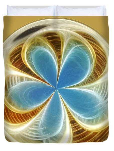 Starfish To Flower - Orb 2 Duvet Cover by Kaye Menner