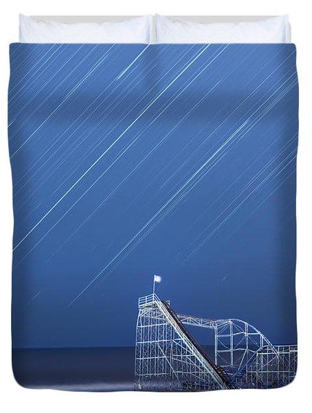 Starjet under the Stars Duvet Cover by Michael Ver Sprill
