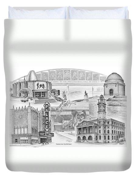 Stark County Ohio Print - Canton Lives Duvet Cover by Kelli Swan