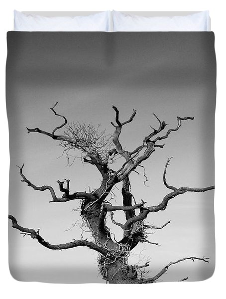 Stark Tree Duvet Cover by Pixel Chimp