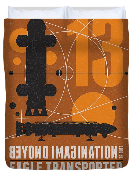 Starschips 13-poststamp - Space 1999 Duvet Cover by Chungkong Art