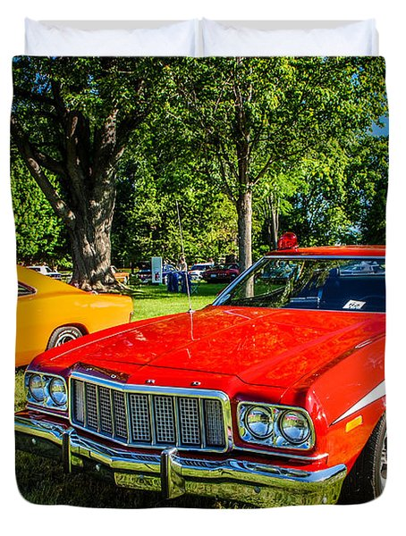 Starsky And Hutch Ford Gran Torino Duvet Cover by Grace Grogan