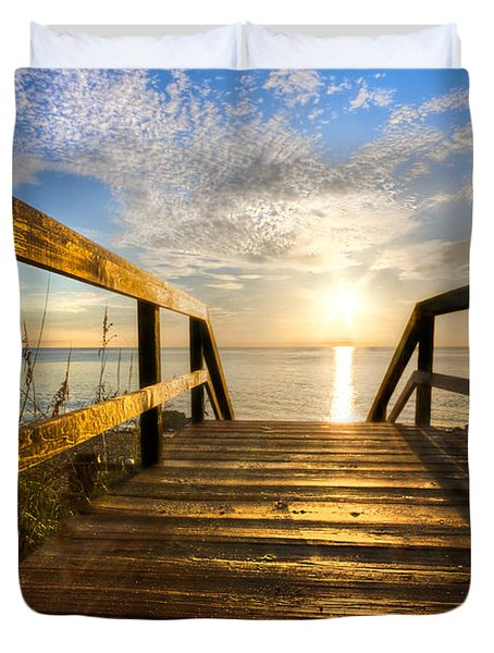 Start Of The Day Duvet Cover by Debra and Dave Vanderlaan