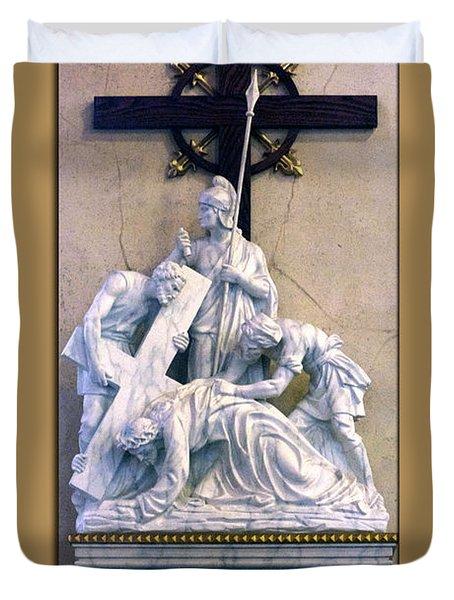 Station Of The Cross 07 Duvet Cover by Thomas Woolworth