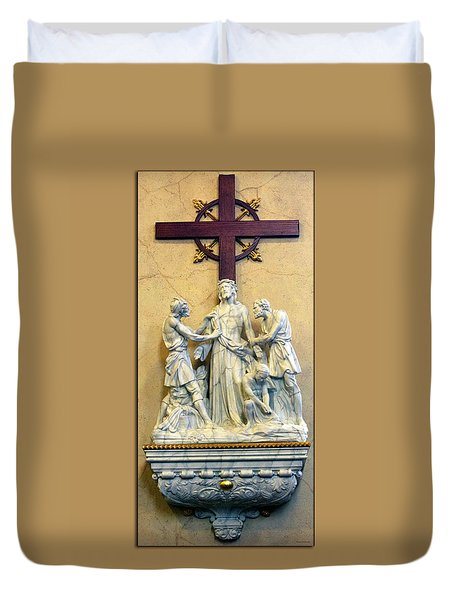 Station Of The Cross 10 Duvet Cover by Thomas Woolworth