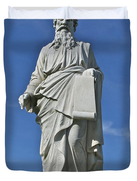 Statue 01 Duvet Cover by Thomas Woolworth