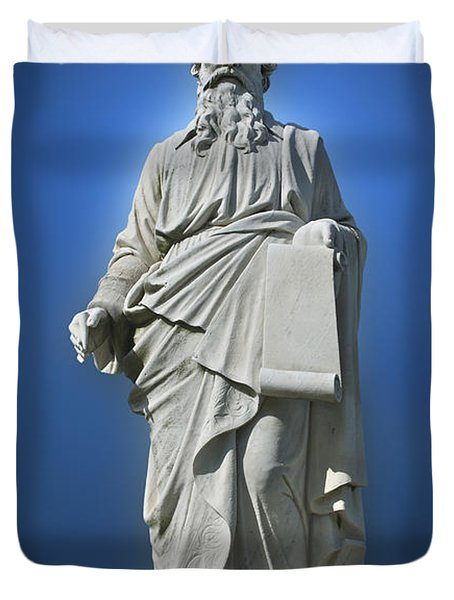 Statue 23 Duvet Cover by Thomas Woolworth