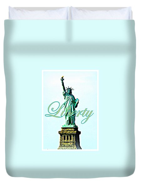 Statue of Liberty Duvet Cover by The Creative Minds Art and Photography