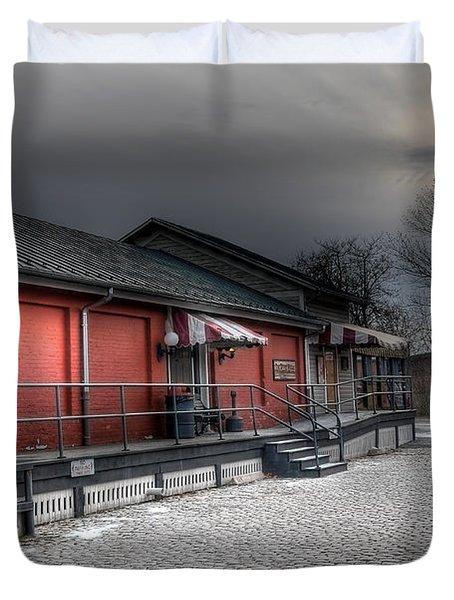 Staunton Va Train Depot Duvet Cover by Todd Hostetter