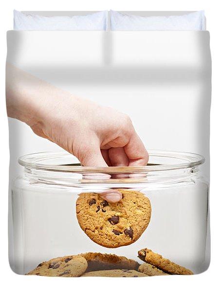 Stealing Cookies From The Cookie Jar Duvet Cover by Elena Elisseeva