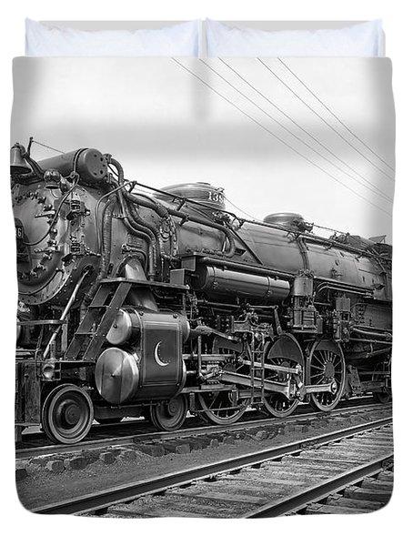 Steam Locomotive Crescent Limited C. 1927 Duvet Cover by Daniel Hagerman
