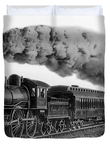 Steam Locomotive No. 999 - C. 1893 Duvet Cover by Daniel Hagerman