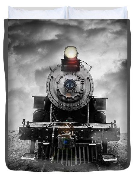 Steam Train Dream Duvet Cover by Edward Fielding
