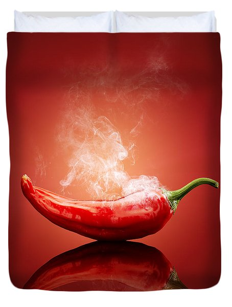 Steaming Hot Chilli Duvet Cover by Johan Swanepoel
