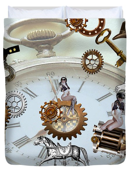 Steampunk Duvet Cover by Cheryl Young