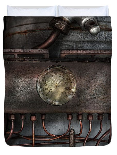 Steampunk - Connections   Duvet Cover by Mike Savad