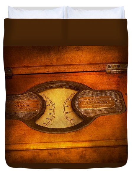 Steampunk - Electrician - The Portable Volt Meter Duvet Cover by Mike Savad