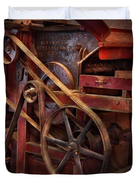 Steampunk - Gear - Belts And Wheels  Duvet Cover by Mike Savad