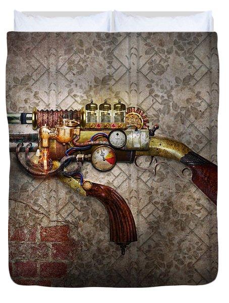 Steampunk - Gun - The sidearm Duvet Cover by Mike Savad