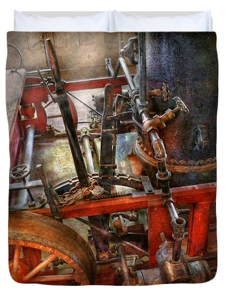Steampunk - My transportation device Duvet Cover by Mike Savad