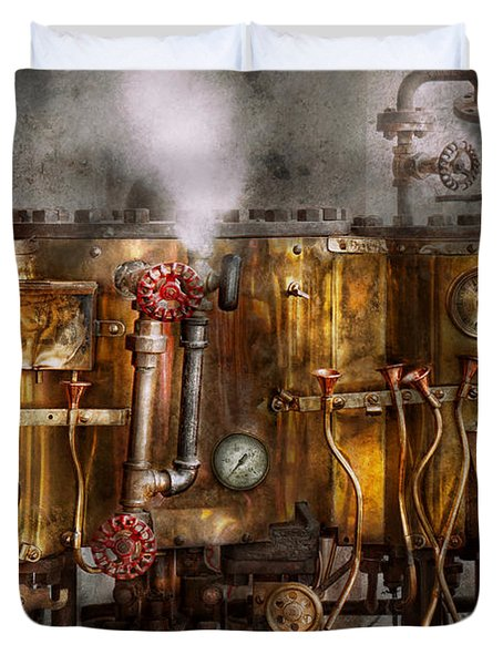 Steampunk - Plumbing - Distilation apparatus  Duvet Cover by Mike Savad
