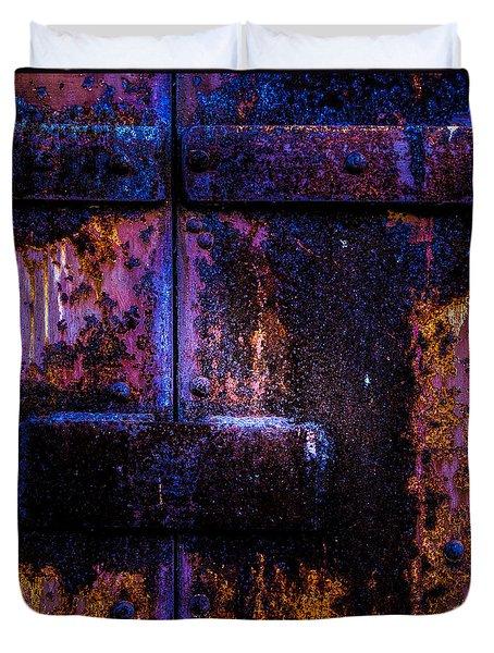 Steel Door Number Three Duvet Cover by Bob Orsillo