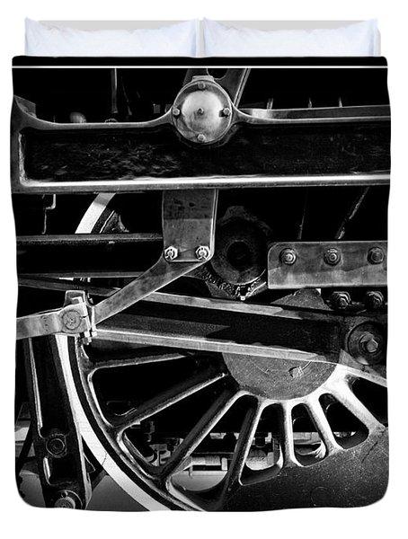 Steel Wheels - Steam Train Drivers Duvet Cover by Edward Fielding