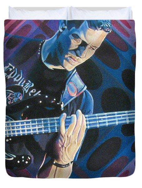 Stefan Lessard Pop-Op Series Duvet Cover by Joshua Morton