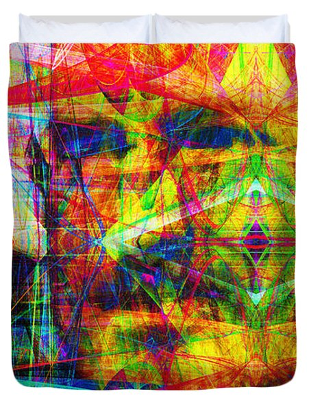 Steve Jobs Ghost In The Machine 20130618 Long Duvet Cover by Wingsdomain Art and Photography