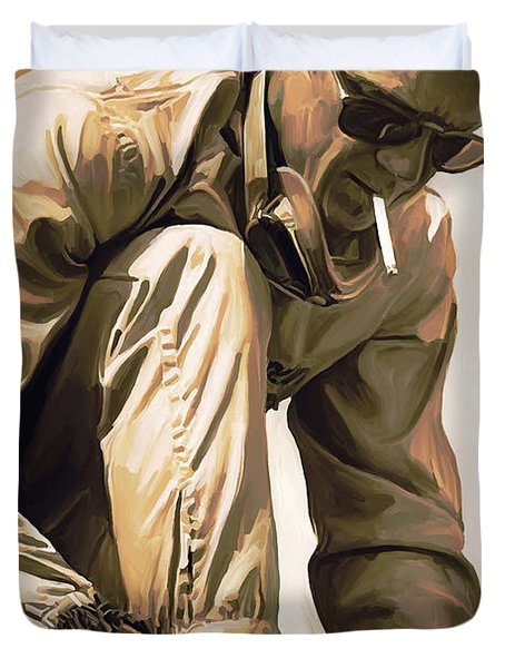 Steve Mcqueen Artwork Duvet Cover by Sheraz A