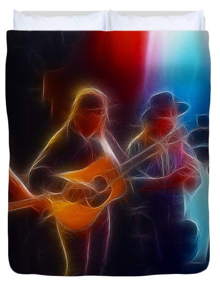 Steve Miller Band Fractal Duvet Cover by Gary Gingrich Galleries
