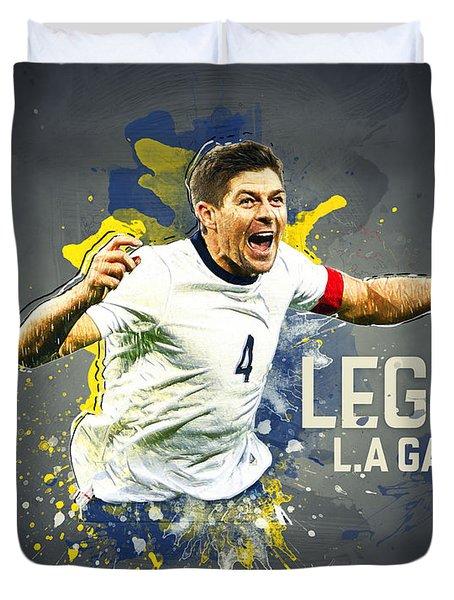 Steven Gerrard Duvet Cover by Taylan Apukovska
