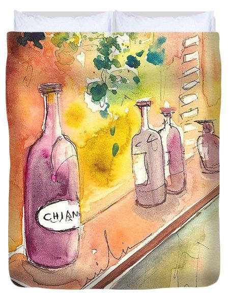 Still Life In Chianti In Italy Duvet Cover by Miki De Goodaboom