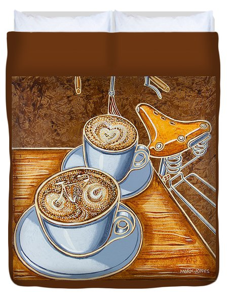 Still life with bicycle Duvet Cover by Mark Howard Jones