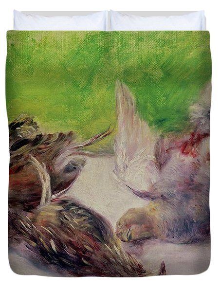Still Life With Pheasants  Duvet Cover by Pierre Auguste Renoir